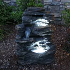 Outdoor Water Fountains With Lights Best 25 Waterfall Fountain Ideas Only On Pinterest Garden
