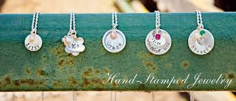 girls personalized necklace images Hand stamped jewelry little girls pearls jpg