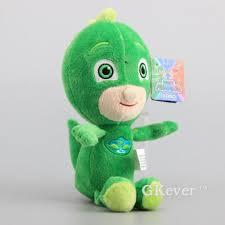 cartoon pj masks green gekko plush toy soft stuffed doll 9 5