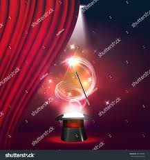 Curtains Show Magic Show Poster Design Template Magic Stock Vector 620184386