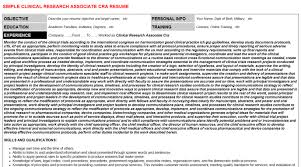 Value Statement Examples For Resumes by Clinical Research Associate Resume Sample Free Resumes Tips