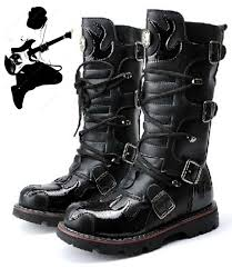 high top motorcycle boots 2015 top punk rock men u0027s super cool high topped motorcycle fashion