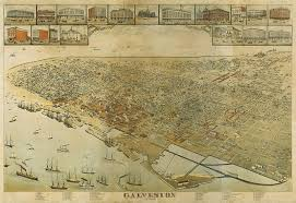 galveston island map map of east end of galveston island viewed from the back bay