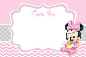 minnie mouse thank you cards baby minnie mouse baby shower thank you card partyexpressinvitations