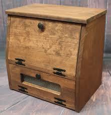Kitchen Storage Furniture Wooden Bread Box Kitchen Storage Wood Vegetable Potato Bin