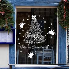 buy decorative stickers for x mas online christmas tree window