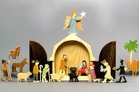wooden nativity sets for children handmade in america
