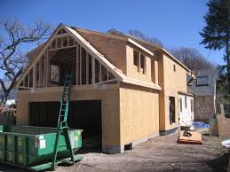 swanson residence framing roof tie in