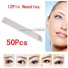 professional permanent makeup 50pcs professional brand 12 pin disposable permanent makeup