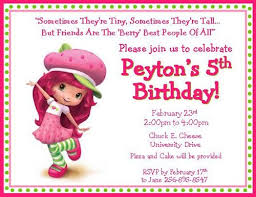 12 printed strawberry shortcake inspired personalized invitations
