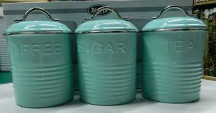 retro kitchen canisters set teal kitchen canisters kitchen canisters retro teal blue canister