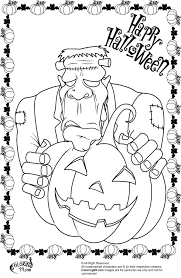 Advanced Halloween Coloring Pages Halloween Frankenstein Coloring Pages Getcoloringpages Com