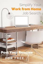 submit resume work from home happiness
