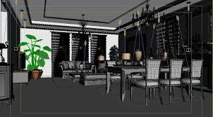 Simple European Living Room Design by Simple And Simple European Style Living Room 1711 3d Model Max