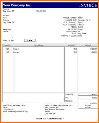 Billing Invoice Template Excel 8 Billing Invoice Template Free Paid Invoice