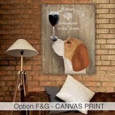 Home Decor Au Beagle Dog Au Vin Beagle Print Wine Gift By Fabfunky Home Decor