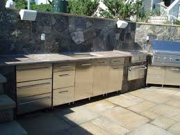 fresh outdoor kitchen plans with beautiful landscaping ruchi designs stunning design of the outdoor kitchen design with silver cabinets doors added with grey tops ideas