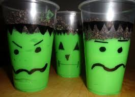 frankenstein pudding cups easy halloween treat little us