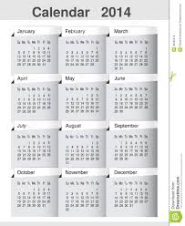 simple calendar 2014 year template modern layout page royalty