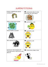 superstitions using first conditional worksheet free esl