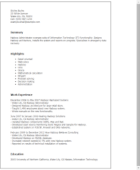 Admin Resume Template Professional Hadoop Administrator Templates To Showcase Your