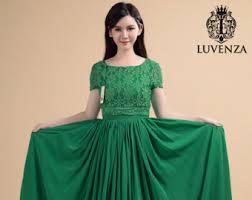 green maxi dress etsy