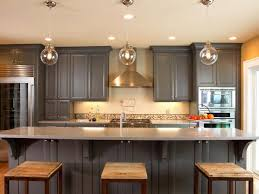 Kitchen Led Lighting Fixtures by Painting Kitchen Cabinets Brown Brown Wooden Countertops