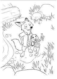 coloring pages zootropolis