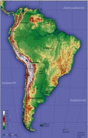 Blank South America Map South America Topography Map Topographic Map Of South America