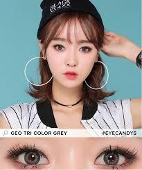 buy geo tri color grey colored contacts eyecandys