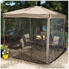 Big Umbrella For Patio Wilson Fisher 8 5 X 8 5 Square Offset Umbrella With Netting At
