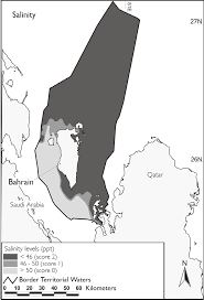 Map Of Bahrain Site Selection For Artificial Reefs In Bahrain Arabian Gulf