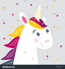 funny cartoon unicorn kids graphic vector stock vector 736082899