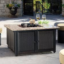 patio dining sets with fire pits furniture agreeable outdoor living room decoration with square