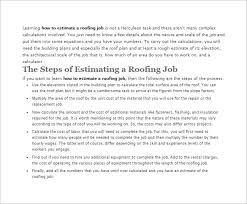 Siding Estimate Template by Roofing Estimate Template 10 Free Word Excel Pdf Documents