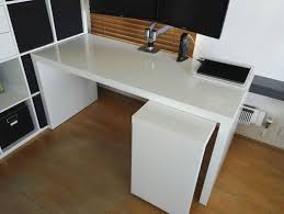 desk with pull out panel white ikea malm desk with pull out panel in chelsea london gumtree