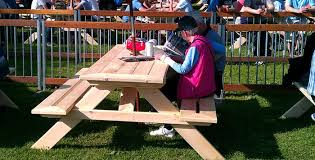 picnic table rentals signature picnic table pds woodwork picnic table rentals and