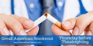 great american smokeout thursday before thanksgiving national