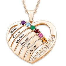 s day necklace with birthstone charms 140 best mothers necklace with kids names images on best