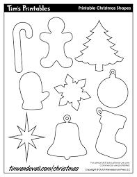 printable christmas shapes christmas shape templates
