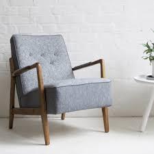 scandi chair retro scandinavian grey lounge chair florrie bill