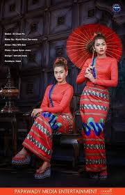red lady ei chaw po looks gorgeous in myanmar traditional dress