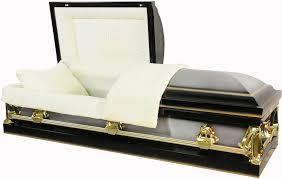 black casket best price caskets 7106 black with gold accents brush