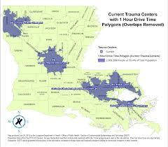 Louisiana Parish Map With Cities by State Designated Trauma Centers U2013 Louisiana Emergency Response Network