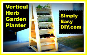 herb garden planter diy vertical herb garden planter box youtube