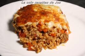 cuisiner steak hach le coin recettes de jos gratin de bœuf haché et riz aux tomates