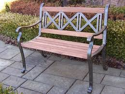 amazon com oakland living triple cross bench outdoor benches