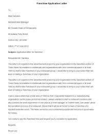 sample letter of intent for business franchise cover letter