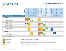 Matrix Template Rasci Matrix Template