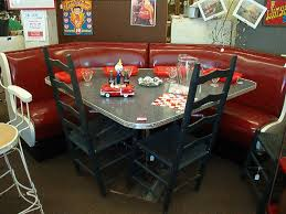 diner style booth table diner style booth and table 3 pc set fits great in a corner no